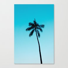 palm tree ver.skyblue Canvas Print