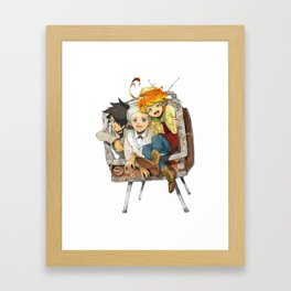The Promised Neverland Cute Framed Art Print