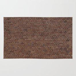 NYC Big Apple Manhattan City Brown Stone Brick Wall Rug