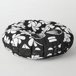 Afro Diva : Black & White Floor Pillow