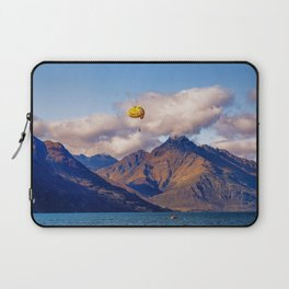 Parasailing on Wakatipu lake, Queenstown, New Zealand Laptop Sleeve
