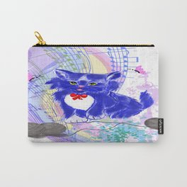 Blue kitty illustration  Carry-All Pouch