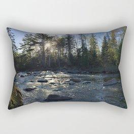 Spring on the Carrabassett River (3) Rectangular Pillow