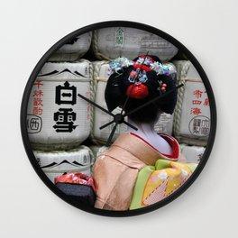 Geisha Maiko III Wall Clock