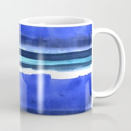 Wave Stripes Abstract Seascape Coffee Mug