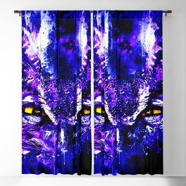great horned owl bird close up wsdb Blackout Curtain