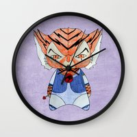 thundercats Wall Clocks featuring A Boy - Tygra (Thundercats) by Christophe Chiozzi