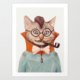 Eclectic Cat Art Print