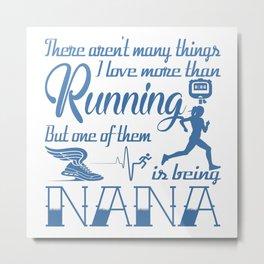 Running Nana Metal Print