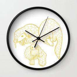 [Endangered Animals] - Pangolin Wall Clock