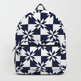Navy blue and white stars pattern Backpack