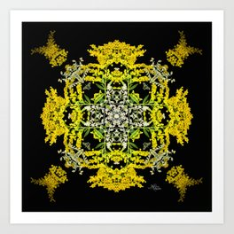 Crowning Goldenrod and Silver king Kaleidoscope Scanography Art Print