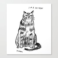 rubyetc Canvas Prints featuring I'm a delight by rubyetc