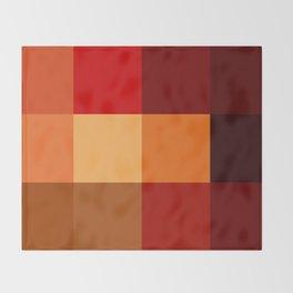 BLOCKS - RED TONES - 2 Throw Blanket