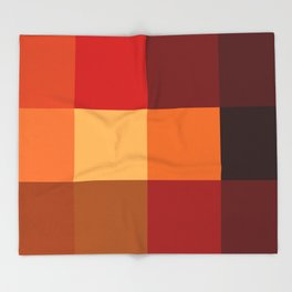BLOCKS - RED TONES - 2 Throw Blanket