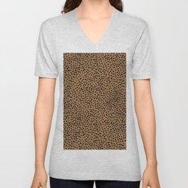 Little wild cheetah spots animal print neutral home trend rust copper black  Unisex V-Neck