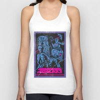 guardians of the galaxy Tank Tops featuring Guardians of the Galaxy NEON by Messypandas