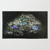 cars Area & Throw Rugs featuring Cars by Alyssa Dennis
