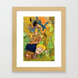 Icadinque The Gardener Framed Art Print