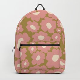 70's Retro Floral  Backpack
