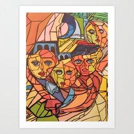 Between wall Art Print