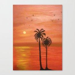 sun set Canvas Print