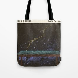 Jim Guthrie Takes Time Album Cover Tote Bag