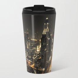 Dubai Night Skyline Travel Mug
