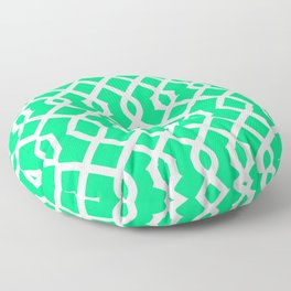 Grille No. 3 -- Seafoam Floor Pillow