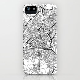 Lille Map Gray iPhone Case