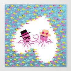 Valentine Octopus Canvas Print
