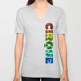The Rainbow Cirque Unisex V-Neck