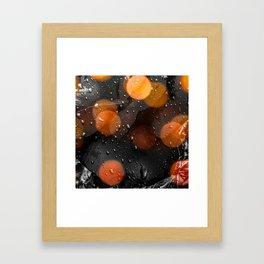 Raindrops and bokeh art Framed Art Print