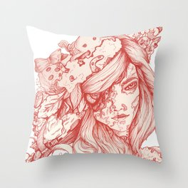 Wonderful Cybernetic Thinking Machine Throw Pillow