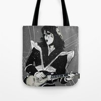 spaceman Tote Bags featuring Spaceman by Ed Pires