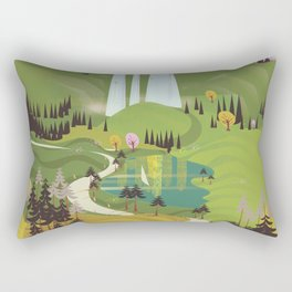Baden-Württemberg deutschland travel poster Rectangular Pillow