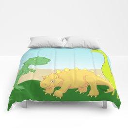 Friendly dinosaurs Comforters