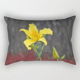 Yellow Stargazer Lily Rectangular Pillow