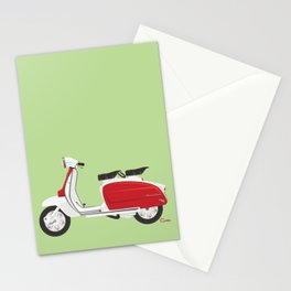 Cherry Scooter Stationery Cards