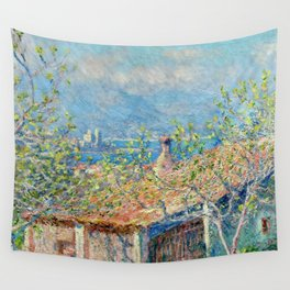 "Claude Monet ""Gardener's House at Antibes"", 1888 Wall Tapestry"