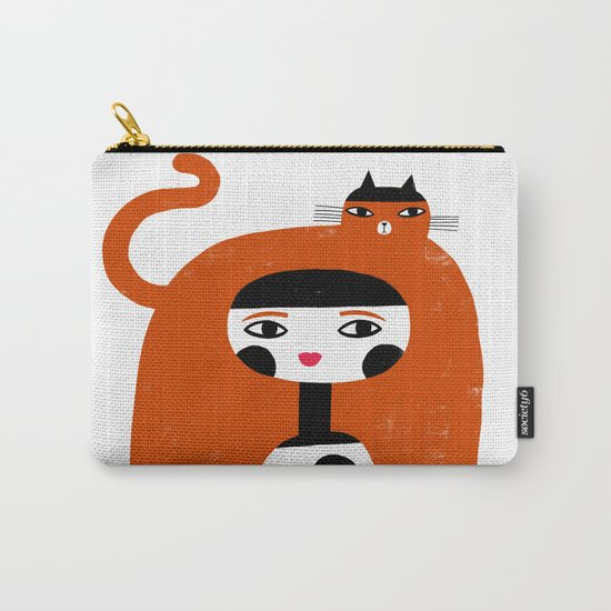 ORANGE LONG HAIR Carry-All Pouch