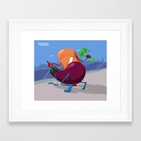 erotic Framed Art Prints featuring Erotic Eggplant by Rui Rodrigues