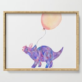 Tie-dye Triceratops Serving Tray