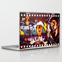 grafitti Laptop & iPad Skins featuring Grafitti Strip Film by Squint Photography