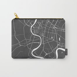 Bangkok Thailand Minimal Street Map - Gray and White II Carry-All Pouch