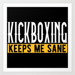 Kickboxing Kickboxer Lovers Gift Idea Motif Art Print