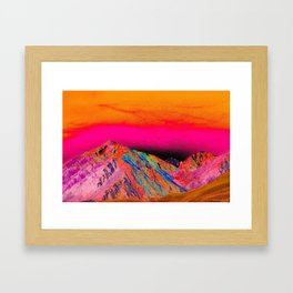 California's Sierra Mts-Digital Art, Pink & Orange Framed Art Print