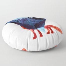 Risky road Floor Pillow