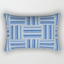 Blue check waves Rectangular Pillow