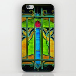Mausoleum Stained Glass iPhone Skin